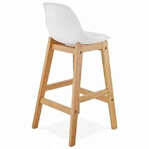 Tabouret Mi Hauteur : tabouret de bar chaise de bar mi hauteur design scandinave florence mini blanc ~ Teatrodelosmanantiales.com Idées de Décoration