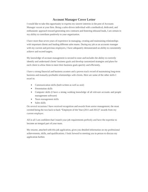 Cover Letter Accounting Manager by Basic Accounting Manager Cover Letter Sles And Templates