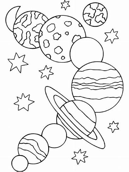 Solar Coloring System Space Pages Printable Planet