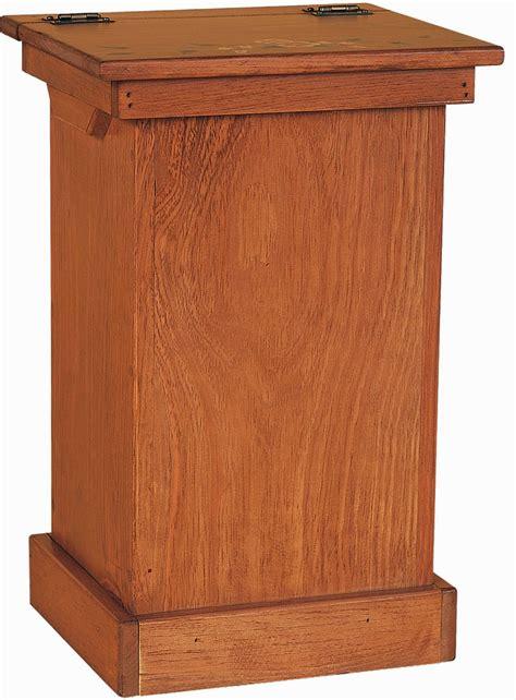 Wood Trash Cabinet by Amish Pine Wood Lift Top Trash Bin Cabinet