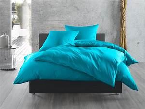 Bettwäsche Türkis Uni : einfarbige bettw sche in blau bettwaesche mit stil ~ Markanthonyermac.com Haus und Dekorationen