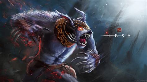 dota  heroes ursa roles carry jungler disabler durable