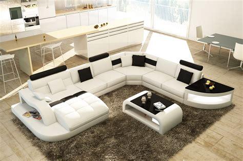 canapé angle noir et blanc deco in canape d angle design panoramique blanc et