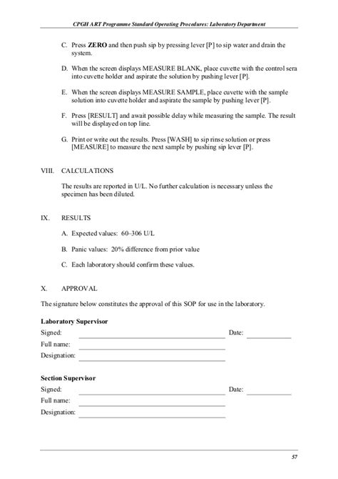 Cto Resume Exle by Standard Operating Procedure Template Excel 100 Images