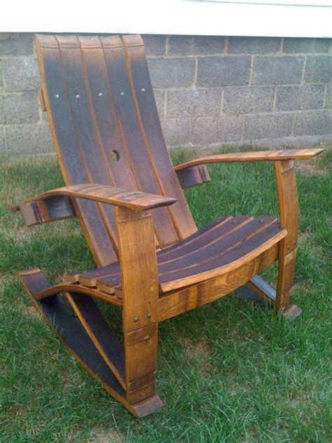 wine barrel stave rocking chair   home wine