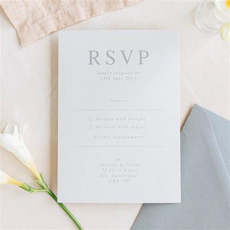 RSVP Cards Eliza May Prints