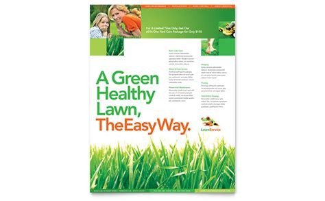 Lawn Mowing Service Brochure Template Word Publisher Lawn Maintenance Flyer Template Word Publisher
