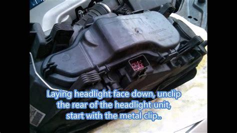 volvo xc headlight bulb replacement youtube