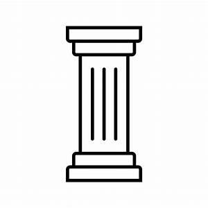 Column Line Black Icon