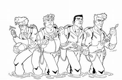 Ghostbusters Coloring Pages Lego Cartoon Ecto Colouring