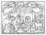 Jesus Birth Coloring Pages Story Bible Christmas Christ Getdrawings sketch template