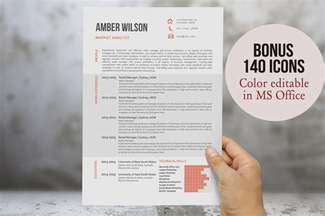 modern chart resume template resume templates creative