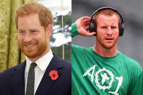prince harry urged  meet  lookalike nfl player