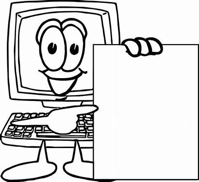 Coloring Computer Parts Pages Technology Printable Getcolorings