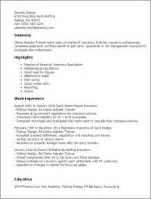 claim adjuster trainee resume professional claims adjuster trainee templates to showcase your talent myperfectresume