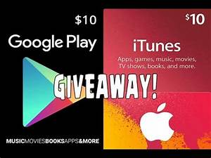 Giveaway For iTunes and Google Play Gift Card! (200 ...