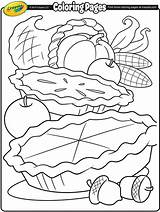 Coloring Crayola Cornucopia Pages Thanksgiving sketch template