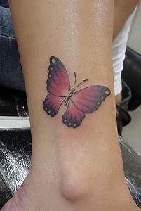 22+ Butterfly Tattoos On Ankle For Girls
