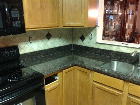 backsplash for kitchen with granite donna s brown granite kitchen countertop w