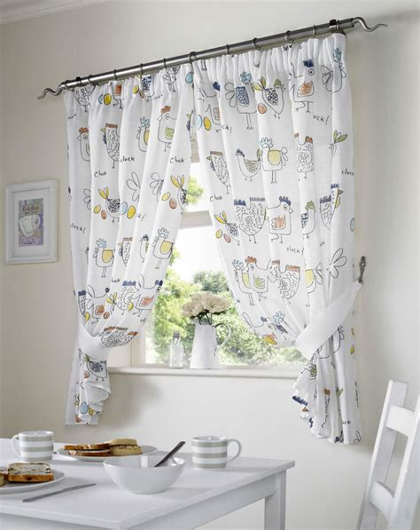 country curtains for kitchen chickens rooster country style kitchen curtain set window 6734