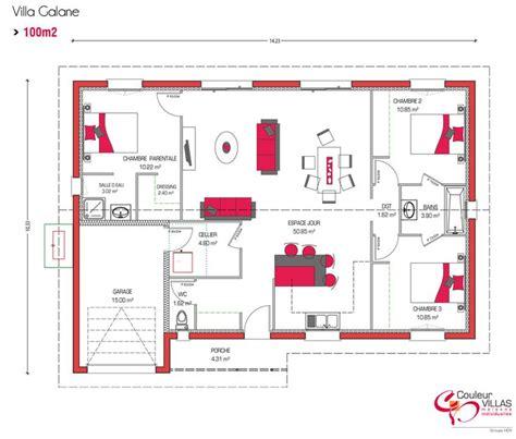 plan de maison 100m2 3 chambres les 20 meilleures idées de la catégorie plans de maisons