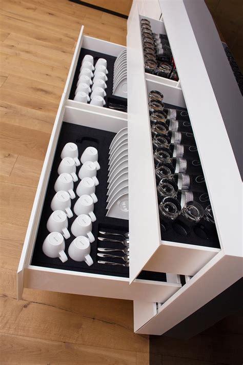 Gewürzeinsätze Für Küchenschubladen sch 246 ne l 246 sung f 252 r k 252 chenschubladen beflockte einteilungen