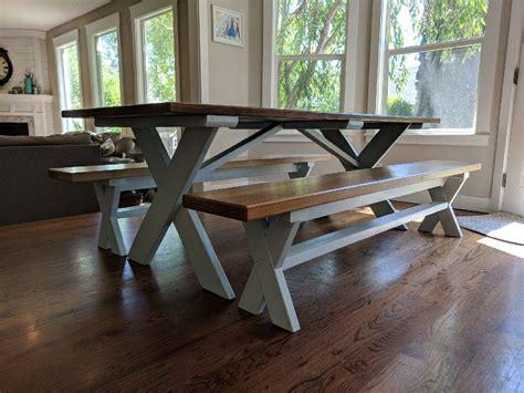custom dining table benches boisecustomfurniturecom