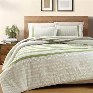 3 piece green koro 100 cotton seersucker comforter set queen