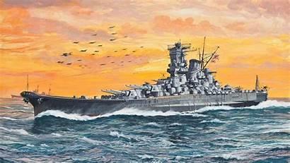 Navy Ship Wallpapers Battleship Ships Japanese Yamato