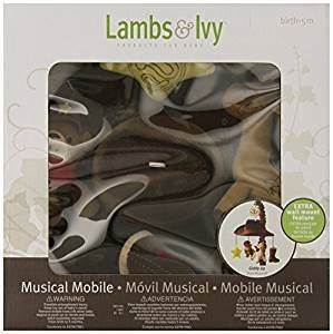 Amazon.com : Lambs & Ivy Giddy Up Mobile, Brown/Blue ...