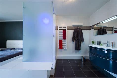 chambre avec salle de bain chambre parentale avec salle de bain ouverte sk concept