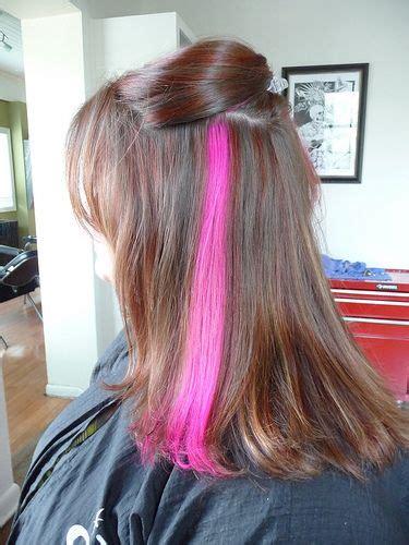 hair color streaks best 20 pink hair streaks ideas on pink