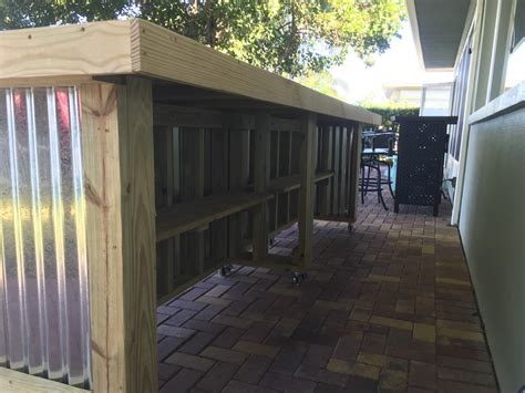The Beer Pong 12' Corrugated Metal Rustic Outdoor Patio