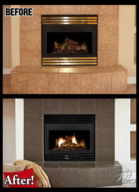 How To Use Fireplace - fireplace tile refinished by miracle method this tile was
