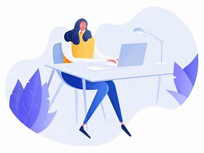 Working Illustration Woman Mau Tam Tran Tri
