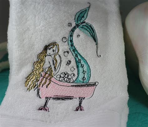 Mermaid Bath Towel Set by Bath Archives Everything Turquoiseeverything Turquoise