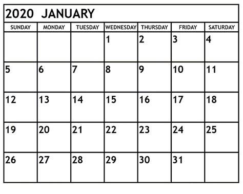 january blank calendar calendar