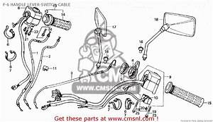 Honda Gl1200 Goldwing 1984  E  F-6 Handle Lever-switch-cable