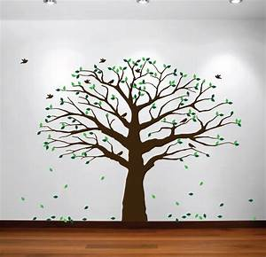 family tree wall decal from innovative stencils With large tree template for wall