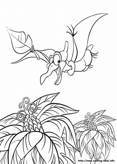 Coloring Land Before Pages Dinosaur Printable Flying