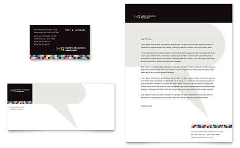 Human Resource Management Business Card & Letterhead