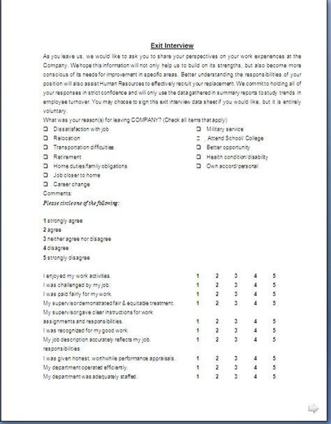 exit interview forms templates exit interview form format in doc pdf