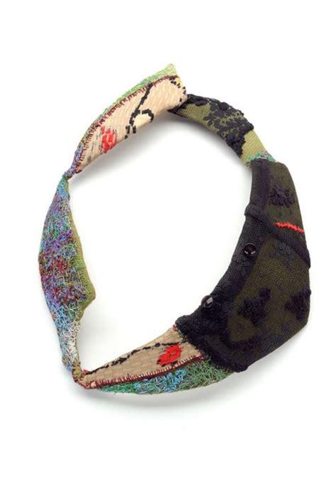 rest  textile jewelry felt necklace
