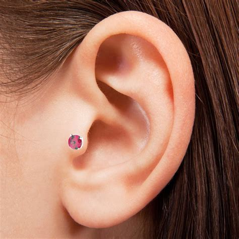 surgical steel jeweled tragus earring