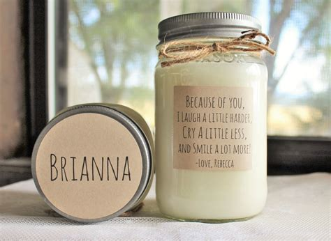 Personalized Soy Candle Because Of You Large Pint16 Oz