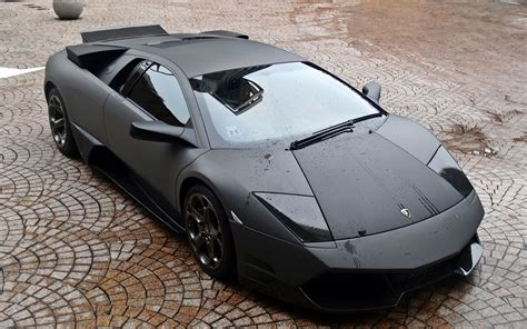 Black Lamborghini Matte Wallpaper