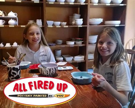 all fired up the paint your own pottery deal all fired up pottery painting certifikid