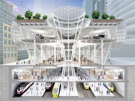 transit architecture transbay transit center build begins autoevolution