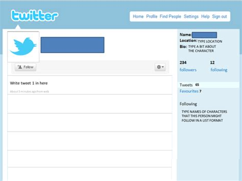 Twitter Template For Posts by Twitter Feed Template By Mariapasqualina Teaching