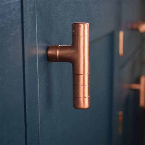 copper kitchen cabinet hardware kitchen cabinet knob pull handle made from copper by